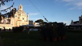 Weihnachtsbaum in Rom stock video