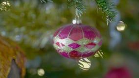 Weihnachtsbaum-Schieber stock video footage