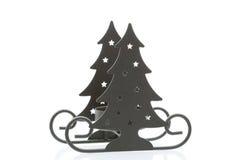 Weihnachtsbaum-Schlitten lizenzfreie stockbilder