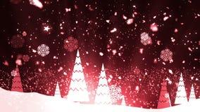 Weihnachtsbaum-Schneeflocken 2 stock video