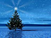 Weihnachtsbaum. Stern Stockfoto