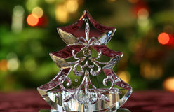 Weihnachtsbaum-Tabellen-Leuchte Stockfoto