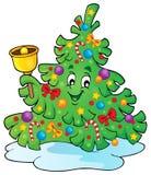Weihnachtsbaum-Themabild 4 Lizenzfreies Stockfoto