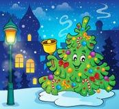 Weihnachtsbaum-Themabild 5 Lizenzfreies Stockfoto