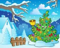 Weihnachtsbaum-Themabild 6 Lizenzfreies Stockbild