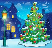 Weihnachtsbaum-Themabild 9 Stockfoto