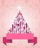 Weihnachtsbaum-Tischbesteck Lizenzfreies Stockbild