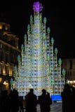 Weihnachtsbaum in Turin, Italien Lizenzfreie Stockbilder