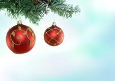 Weihnachtsbaum u. Flitter Lizenzfreies Stockfoto