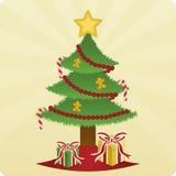 Weihnachtsbaum u. Geschenke Stockbilder