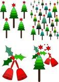 Weihnachtsbaum und Bell Lizenzfreie Stockfotos