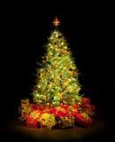 Weihnachtsbaum und Geschenke Lizenzfreies Stockbild