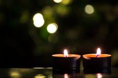 Weihnachtsbaum und Kerzen Lizenzfreie Stockfotos