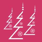 Weihnachtsbaum und Schneeflocken Lizenzfreie Stockfotos