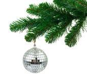 Weihnachtsbaum und Spiegelkugel Stockbilder