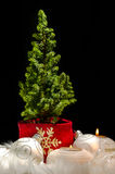 Weihnachtsbaum und Verzierungen - festliche Stimmung 06 lizenzfreie stockfotos