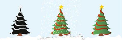 Weihnachtsbaum/Vektor Stockfotos