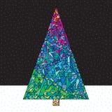 Weihnachtsbaum-Vektor-Illustration Lizenzfreie Stockfotografie