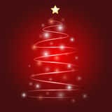Weihnachtsbaum-Vektordesign Stockbild