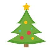 Weihnachtsbaum-Vektorikone Getrennt auf weißem Hintergrund stock abbildung