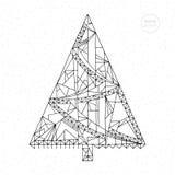 Weihnachtsbaum-Vektorillustration Hand gezeichnete abstrakte Winterurlaube Seite färbend Weihnachtshintergrund in der modernen Ar Stockfoto
