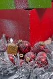 Weihnachtsbaum verziert Stockfoto