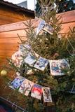 Weihnachtsbaum verziert Stockfotos