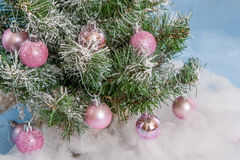 Weihnachtsbaum verziert Stockfotografie
