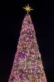Weihnachtsbaum verziert mit Weihnachtsbällen Lizenzfreies Stockfoto