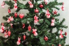 Weihnachtsbaum verzierte Hintergrund Lizenzfreies Stockfoto