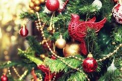 Weihnachtsbaum verzierte neues Jahr der Spielwaren Stockbilder