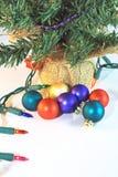 Weihnachtsbaum-Verzierungen Stockbild