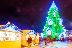 Weihnachtsbaum in Vilnius Litauen 2015 Stockbilder