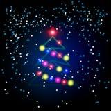 Weihnachtsbaum vom hellen Vektorhintergrund Stock Abbildung
