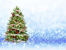 Weihnachtsbaum vom Weihnachten beleuchtet (Spiel mit dem Licht) Stockbild