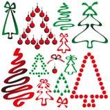 Weihnachtsbaum von den Bändern und von den Kreisen Lizenzfreie Stockfotos