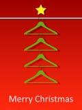 Weihnachtsbaum von den Kleiderbügeln Stockfotos