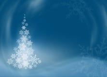 Weihnachtsbaum von den schönen Schneeflocken Stockfoto