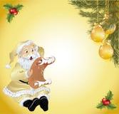 Weihnachtsbaum vorher verziert mit einem Zeichen Stockbilder