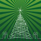 Weihnachtsbaum-Zeichnung vektor abbildung