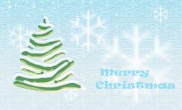 Weihnachtsbaumaqua Lizenzfreies Stockfoto