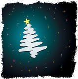 Weihnachtsbaumauslegung Stockfoto