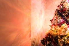Weihnachtsbaumblitz die Wand Lizenzfreie Stockfotos