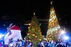 Weihnachtsbaumdekoration an der Weihnachts- und des neuen Jahresfeier Lizenzfreies Stockbild