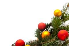 Weihnachtsbaumdekorationen Stockfotografie