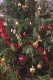 Weihnachtsbaumdekorationen Stockbilder