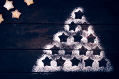 Weihnachtsbaumform Stockfoto