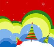 Weihnachtsbaumhintergrund Stockfoto