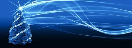 Weihnachtsbaumhintergrund mit digitaler Energie wirbelt illustra 3d Lizenzfreies Stockfoto