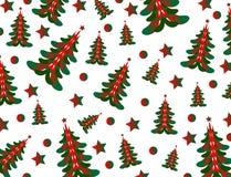 Weihnachtsbaumhintergrundvektor und -illustration Stockfotos